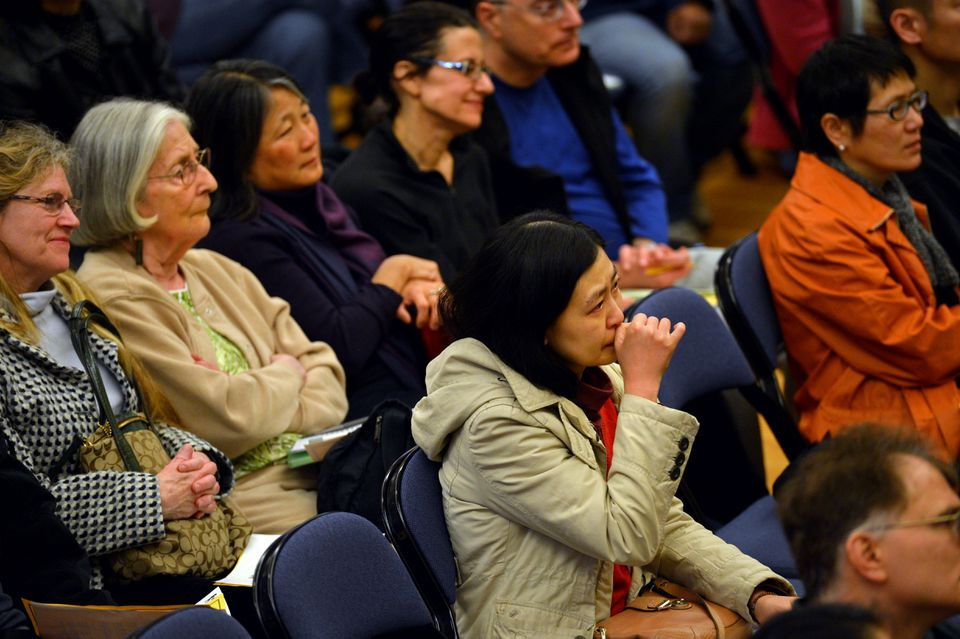 The Lexington Asian Mental Health Initiative hosted a forum at the Isaac Harris Cary Memorial Building, where families spoke about the stresses of Asian-American students.