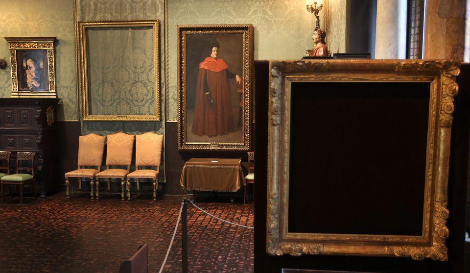 The Isabella Stewart Gardner Museum stolen paintings are still missing.