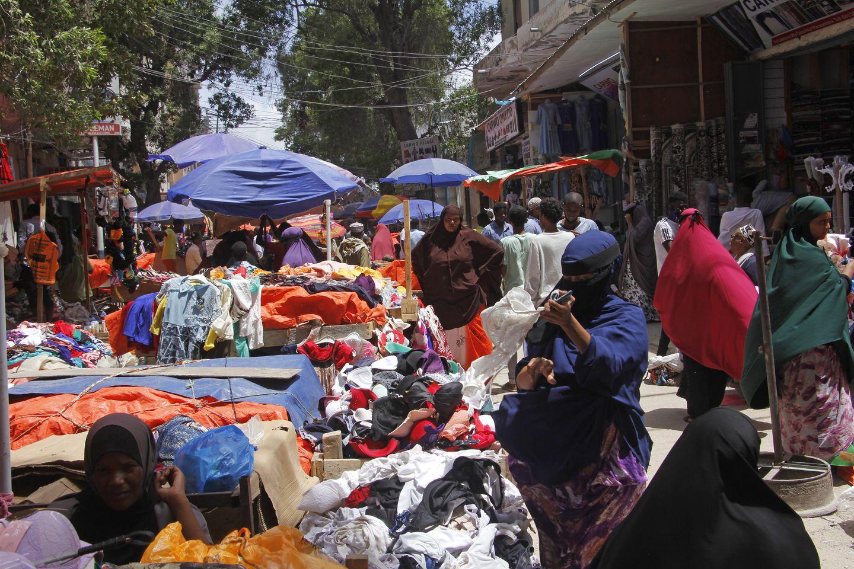 A street market in Mogadishu in May.