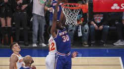 New York Knicks forward Julius Randle averaged a career-best 24.1 points while his 10.2 rebounds equaled a career-high last season.