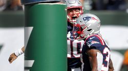 Mac Jones (10) and Damien Harris were among the talking points after the Patriots' victory Sunday.