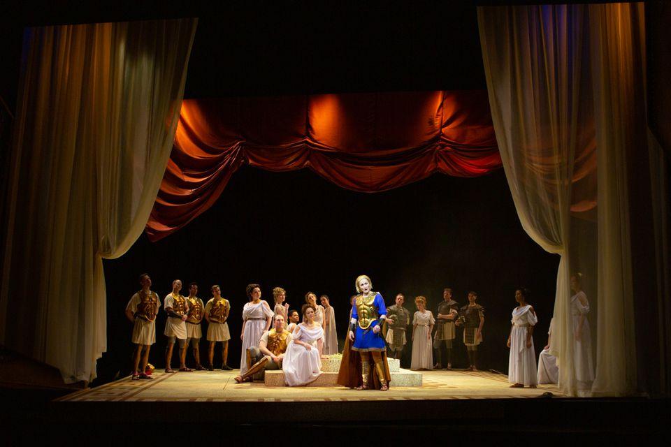 "A scene from Odyssey Opera's production of ""Paride ed Elena."""