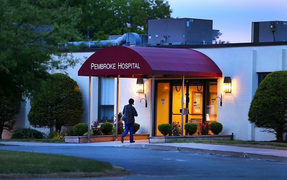 Rice said the floors and couches at Pembroke Hospital were filthy, and the bathrooms 'absolutely disgusting.'