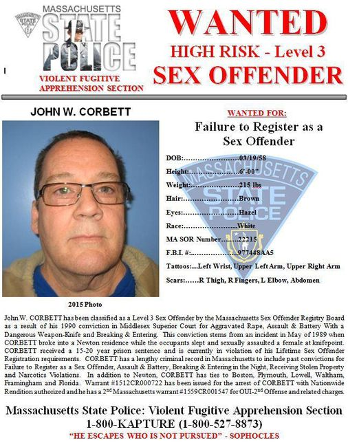 Man, 60, Added To States Most Wanted Sex Offender List -8006