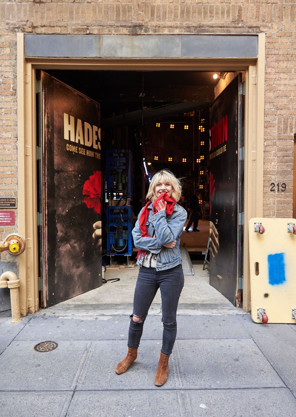 """Mitchell at the Walter Kerr Theatre, which was most recently home to """"Springsteen on Broadway."""" Mitchell is not modest about her ambitions for the show. """"I kind of want every song to be a standard,"""" she says."""