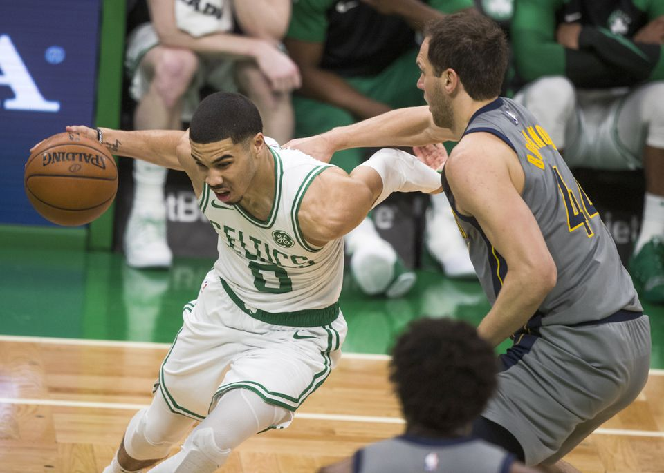 a54dc7ef85f1 Jayson Tatum and the Celtics play the Indiana Pacers at TD Garden Sunday in  Game 1