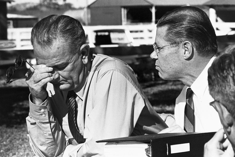 While hosting Defense Secretary Robert McNamara at the LBJ Ranch in 1964, President Lyndon B. Johnson reacted to news of new problems in Vietnam.
