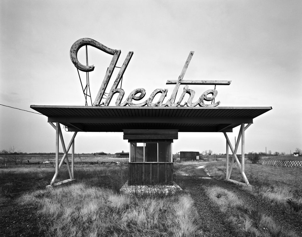 "Frank Armstrong's ""Theatre — Parsons, KS"" (top) and"