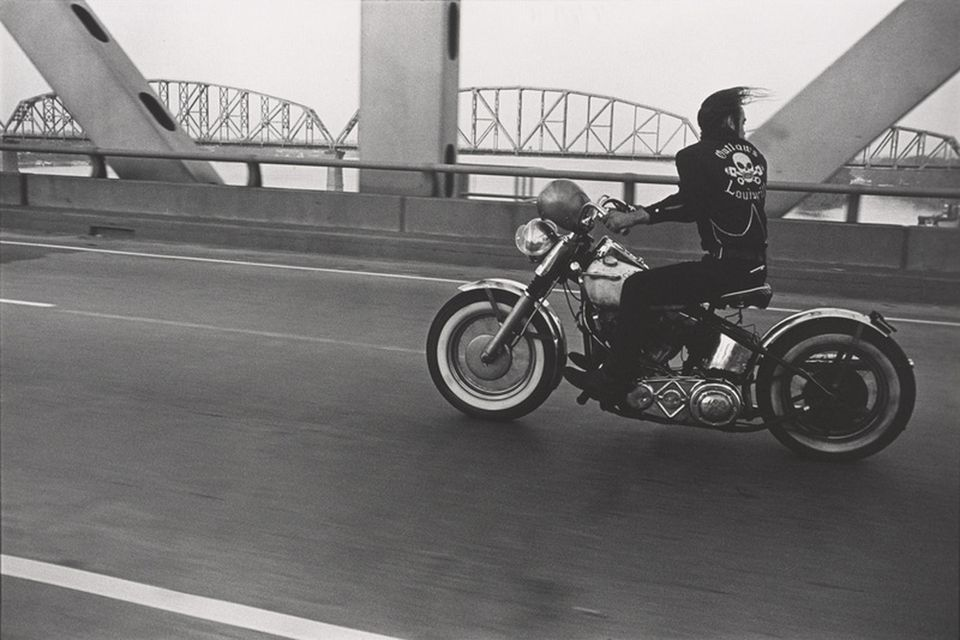 "Danny Lyon's ""Crossing the Ohio River, Louisville."""