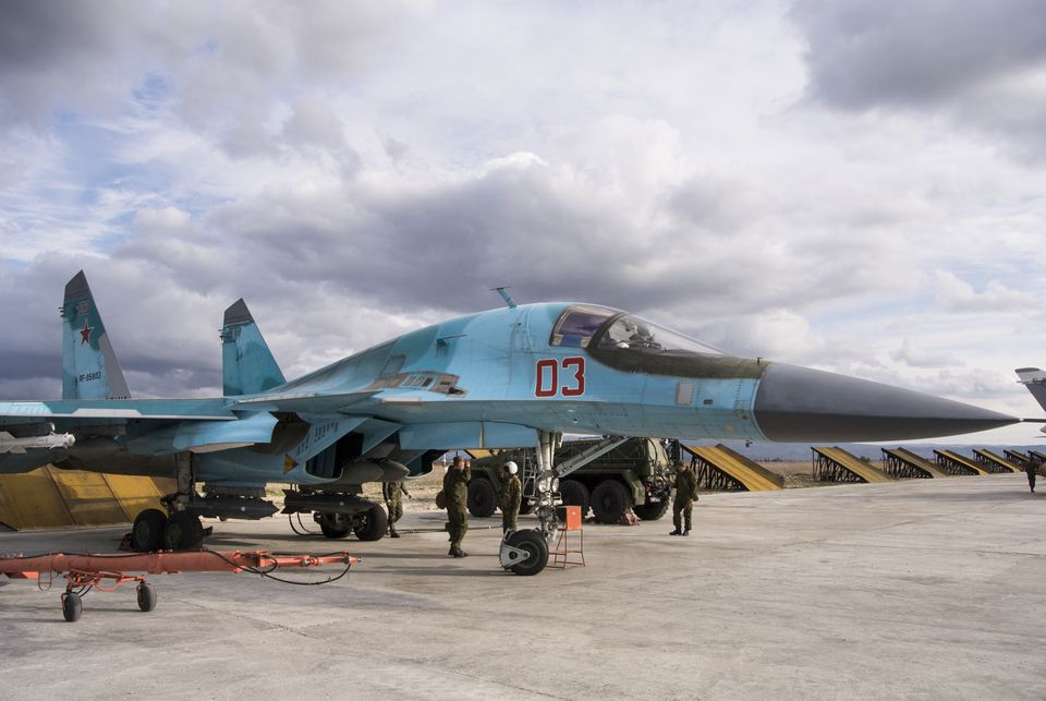A Russian Su-34 bomber prepared for a combat mission over Syria on Jan. 20. Russian warplanes have flown over 5,700 combat missions sinceSeptember 2015.