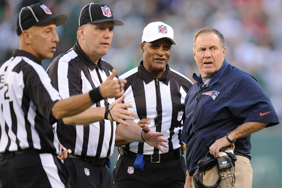 """Bill Belichick didn't agree with the ruling Sunday, referencing a """"second level.'' On Monday, he said, """"It's our job to understand the rules.''"""
