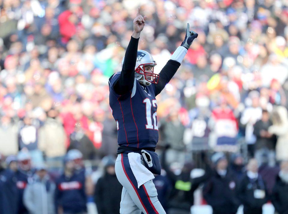 Tom Brady won his 28th postseason game on Sunday.
