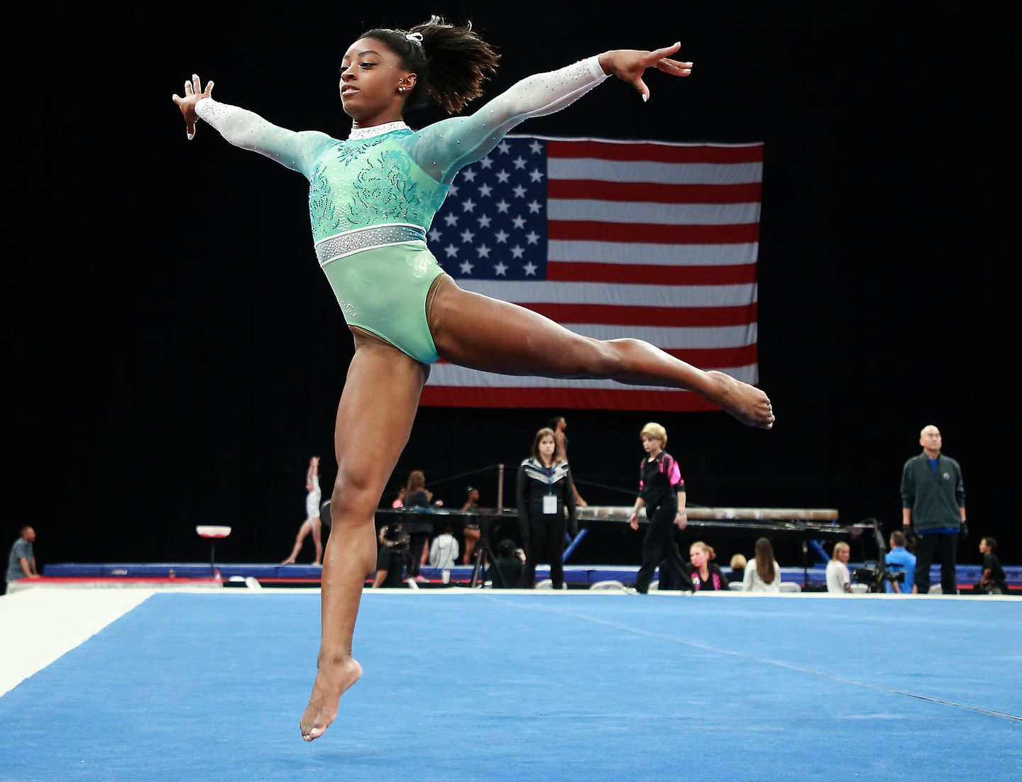Simone Biles is the top gymnast
