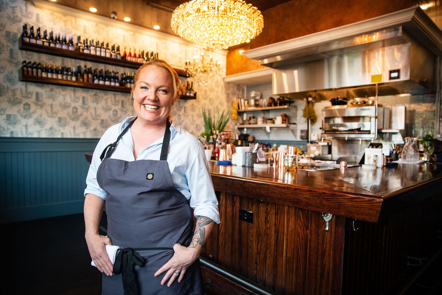 Chef Tiffani Faison at Fool's Errand.