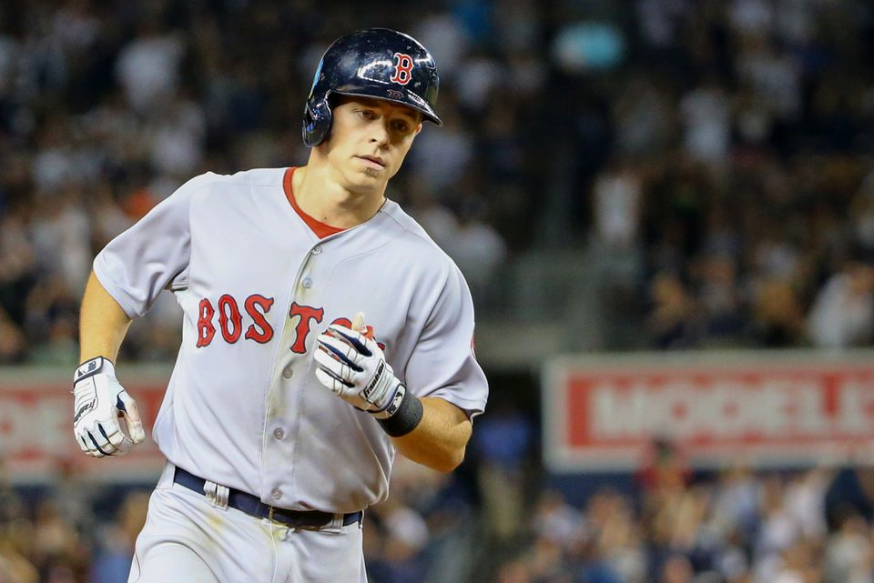 Brock Holt rounded the bases in the fifth inning Sept. 4 after hitting a home run at Yankee Stadium.