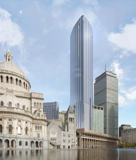 A rendering of the Four Seasons Tower in the Back Bay.