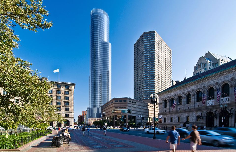Copley Tower will stand almost eye to eye with the nearby Prudential Tower, except one is all business, the other, with direct access to the mall, more leisure.