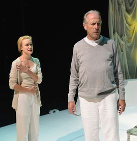"Ashley Risteen and Will Lyman in ""Man In Snow."""