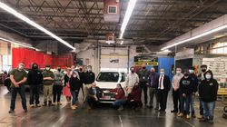 Maria Roca received a car repaired by students of Northeast Metro Tech in partnership with Second Chance Cars Tuesday.