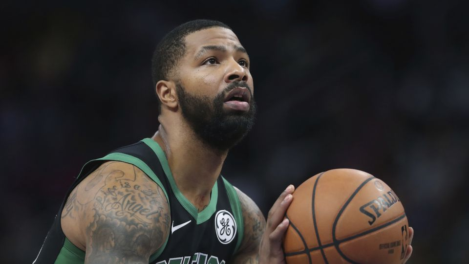 Celtics forward Marcus Morris shoots a free throw sgainst the Pistons last month. Free throw shooting has been a rare occurrence since the Celtics started the season.