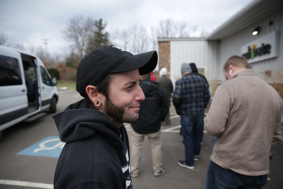 Joe Soja stands in line at Cultivate.