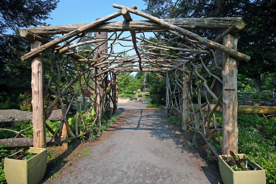 The entrance to the children's garden at The Gardens at Elm Bank in Wellesley.