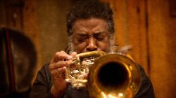 Wadada Leo Smith shown during recording sessions with the Great Lakes Quartet in 2015.