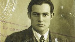 Ernest Hemingway's passport from the 1920s, from the Hemingway archives at the John F. Kennedy Presidential Library and Museum.