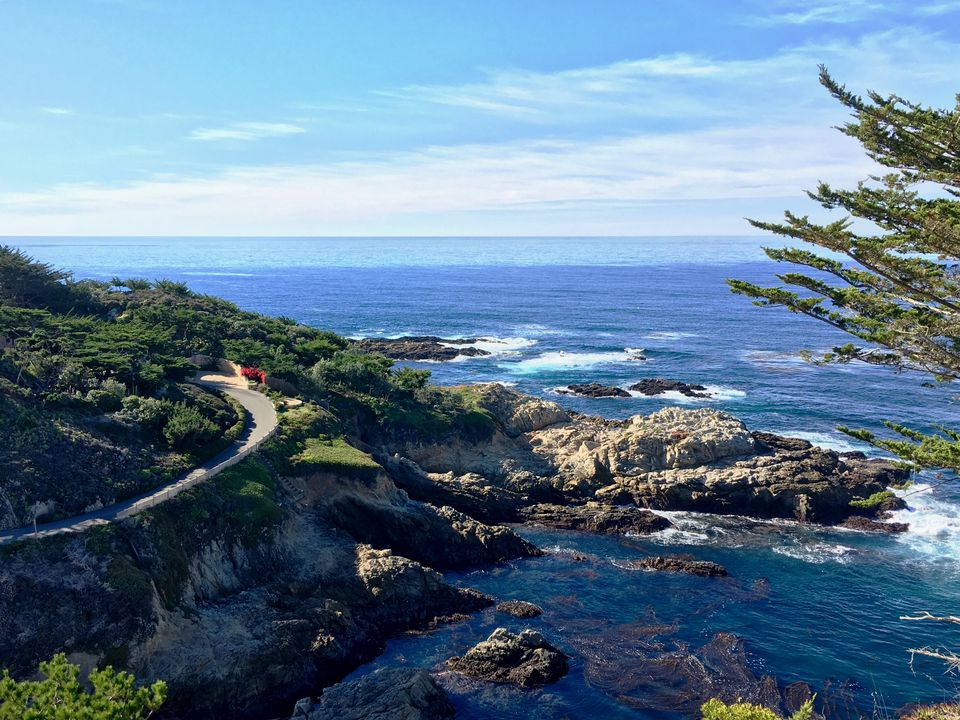The Pacific view from Route 1 in Carmel, Calif.