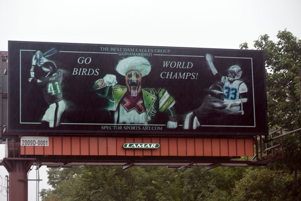 The billboard can be seen at Route 1 and North Street.