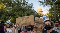 Abortion rights advocates march outside the Texas Capitol in September in Austin. Lawmakers passed SB8, which effectively bans nearly all abortions and went into effect Sept. 1.