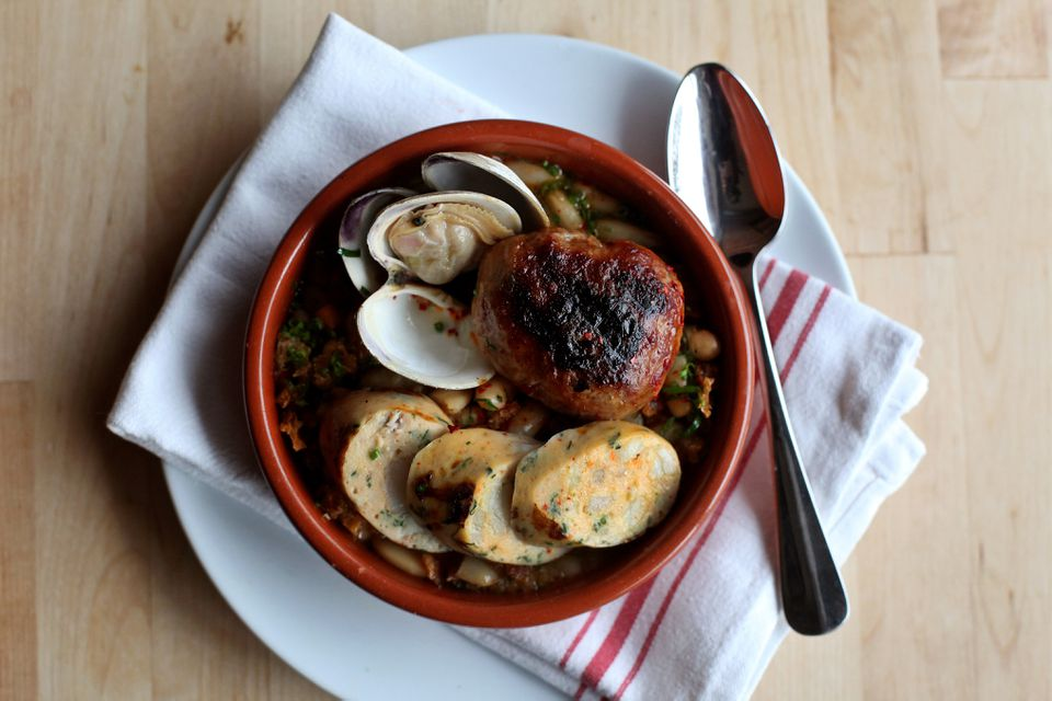 Spanish seafood cassoulet at Sycamore in Newton Center.