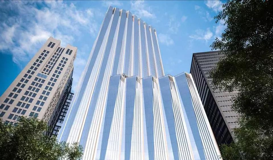 A rendering of Millennium Partners' proposed tower on the site of the Winthrop Square Garage.