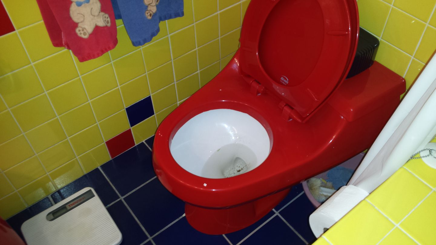 Fire Engine Red Toilet