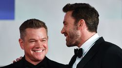 """Matt Damon and Ben Affleck arrived for the screening of the film """"The Last Duel."""""""
