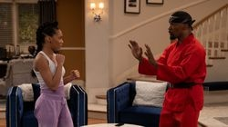 """Jamie Foxx (left) and Kyla-Drew as father and daughter in Netflix's """"Dad, Stop Embarrassing Me."""""""