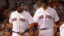 Kyle Schwarber (left) is a free agent, and J.D. Martinez (right) can opt out of his contract.