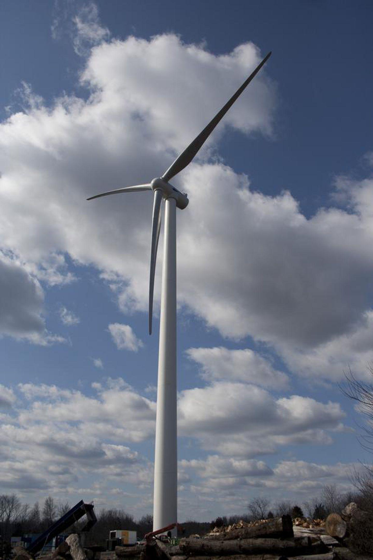 The Scituate wind turbine.
