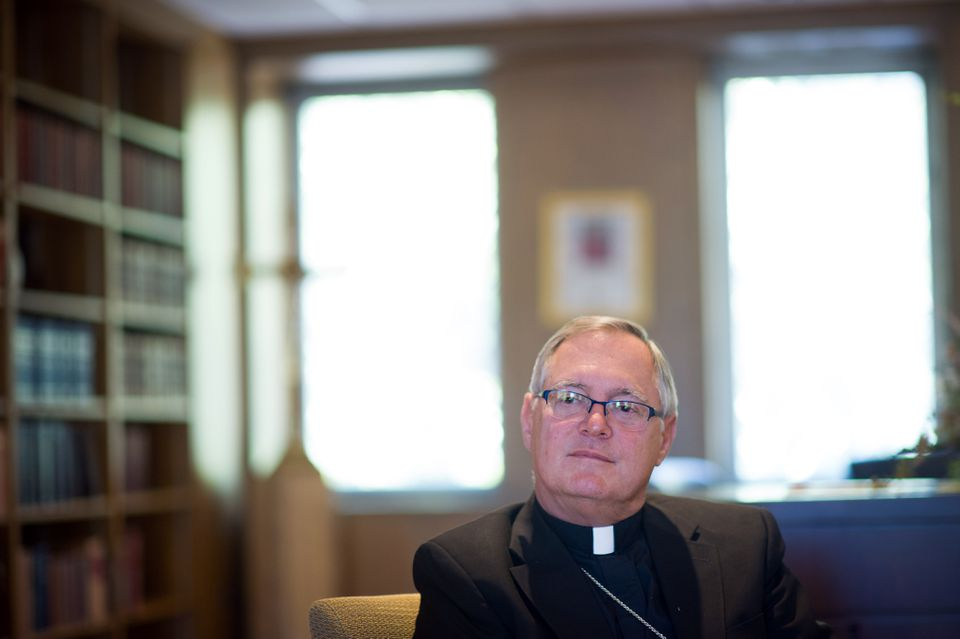 Bishop Thomas J. Tobin of the Diocese of Providence, during an October 2013 interview in his office.