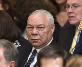 Former Secretary of State Colin Powell in the White House on May 31, 2012.