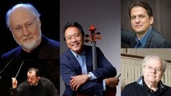 The six-week lineup announced Thursday features all the usual suspects. Clockwise from bottom left: Andris Nelsons, John Williams, Yo-Yo Ma, Keith Lockhart, and Emanuel Ax.
