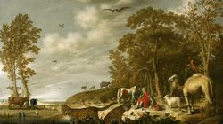 """""""Orpheus Charming the Animals"""" by Dutch painter Aelbert Cuyp, created in about 1640."""