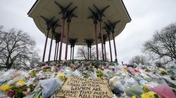 In this Saturday, March 20, 2021 file photo, floral tributes and messages are placed at the bandstand on Clapham Common in London in memory of Sarah Everard. A British police officer has pleaded guilty to murdering Everard, who was abducted as she walked home from a friend's house in London.