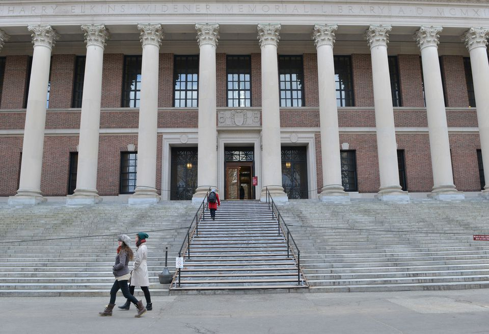 The Widener Library at Harvard University in Cambridge.