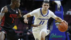Marcus Zegarowski (11), who is from Hamilton, declared for the NBA draft after helping Creighton reach the Sweet 16.