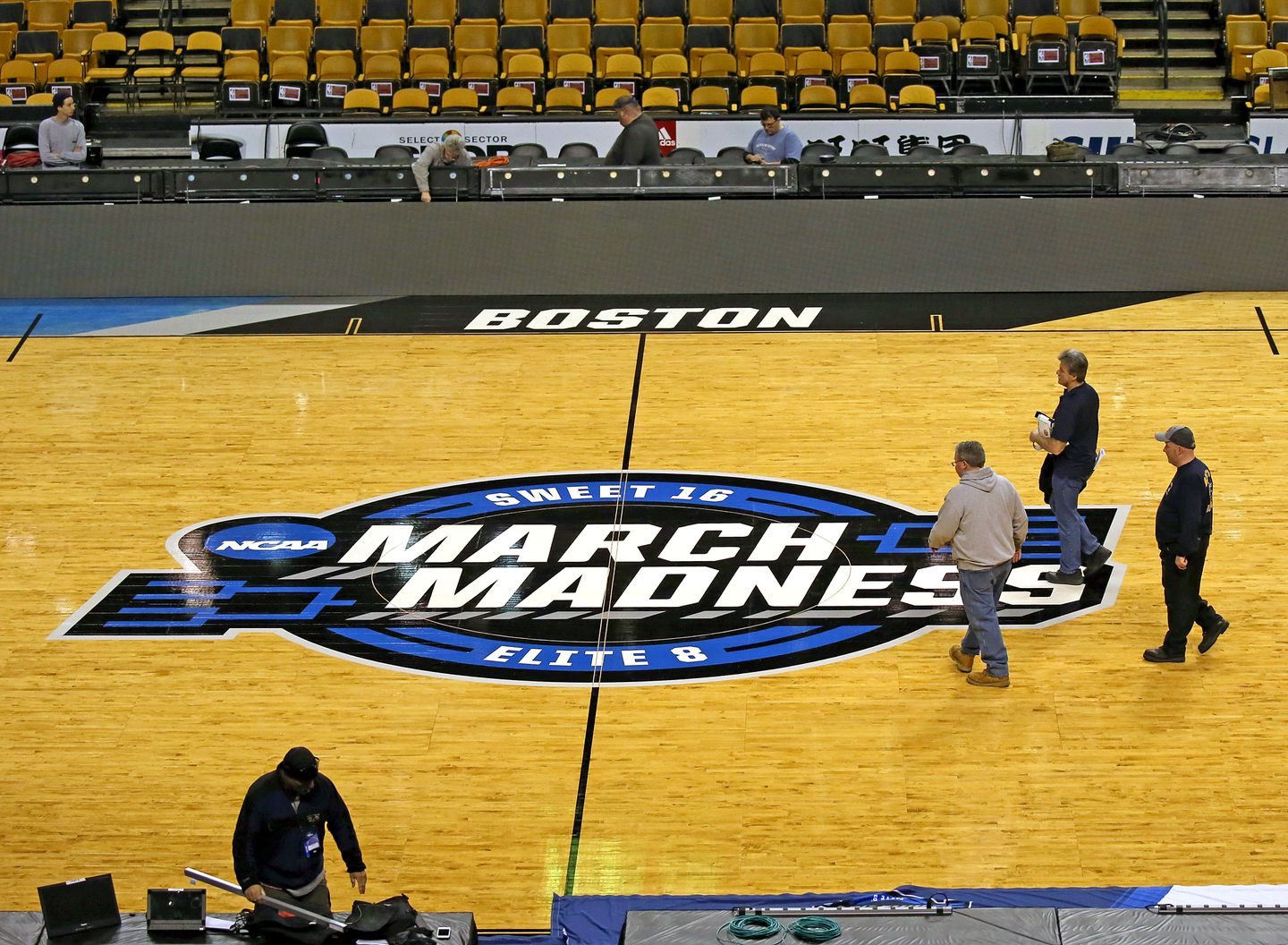 Here S A Look At The Ncaa Tournament Court At Td Garden The