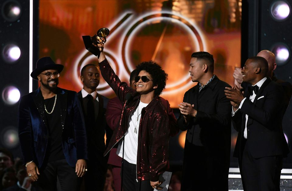 Bruno Mars received the Grammy for the Best Song of the year.