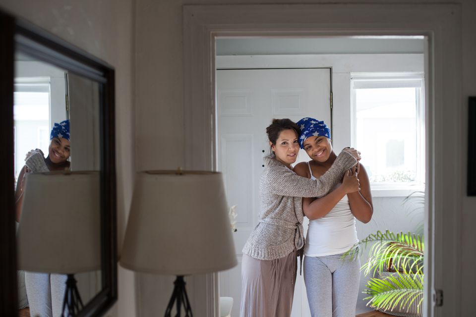 Myalynn Ranson (right), 16, is pictured with her mother, Celinez Jodoin, at their West Springfield home. Before Ranson underwent brain surgery last month, her neurosurgeon practiced on a 3-D model of Ranson's brain.