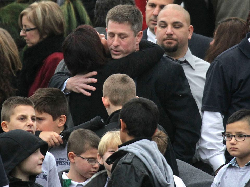 Jack Pinto, 6, was mourned at a funeral in Newtown, Conn.