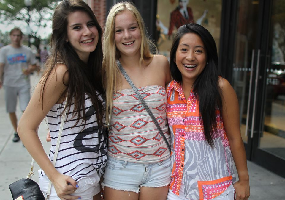Jackie Liu, Maddy McAlpine, and Sophia Gerner went shopping before the new school year.